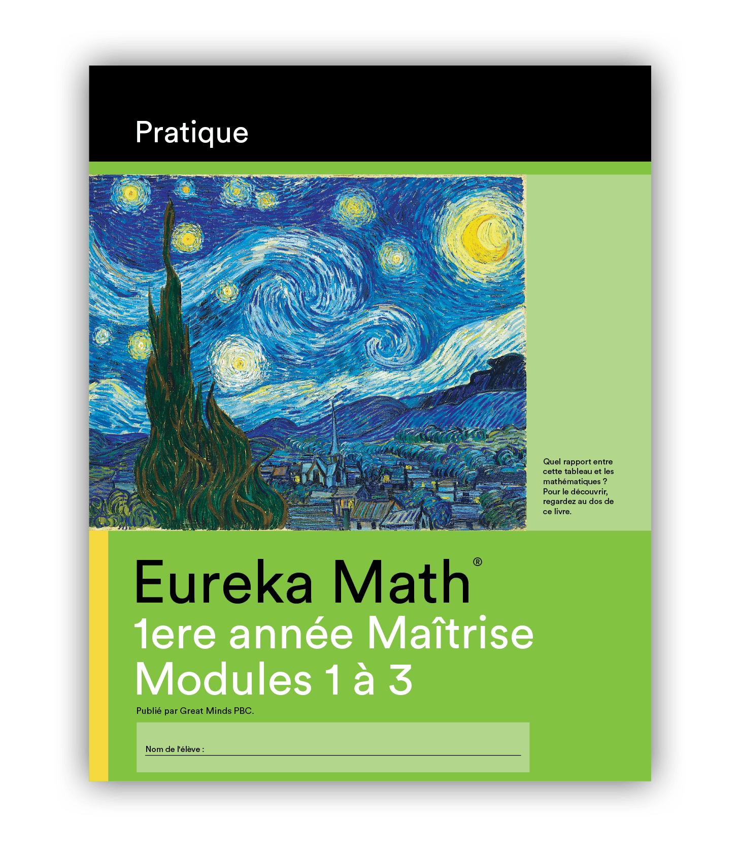 Eureka Math Practice Book in French for Grade 1