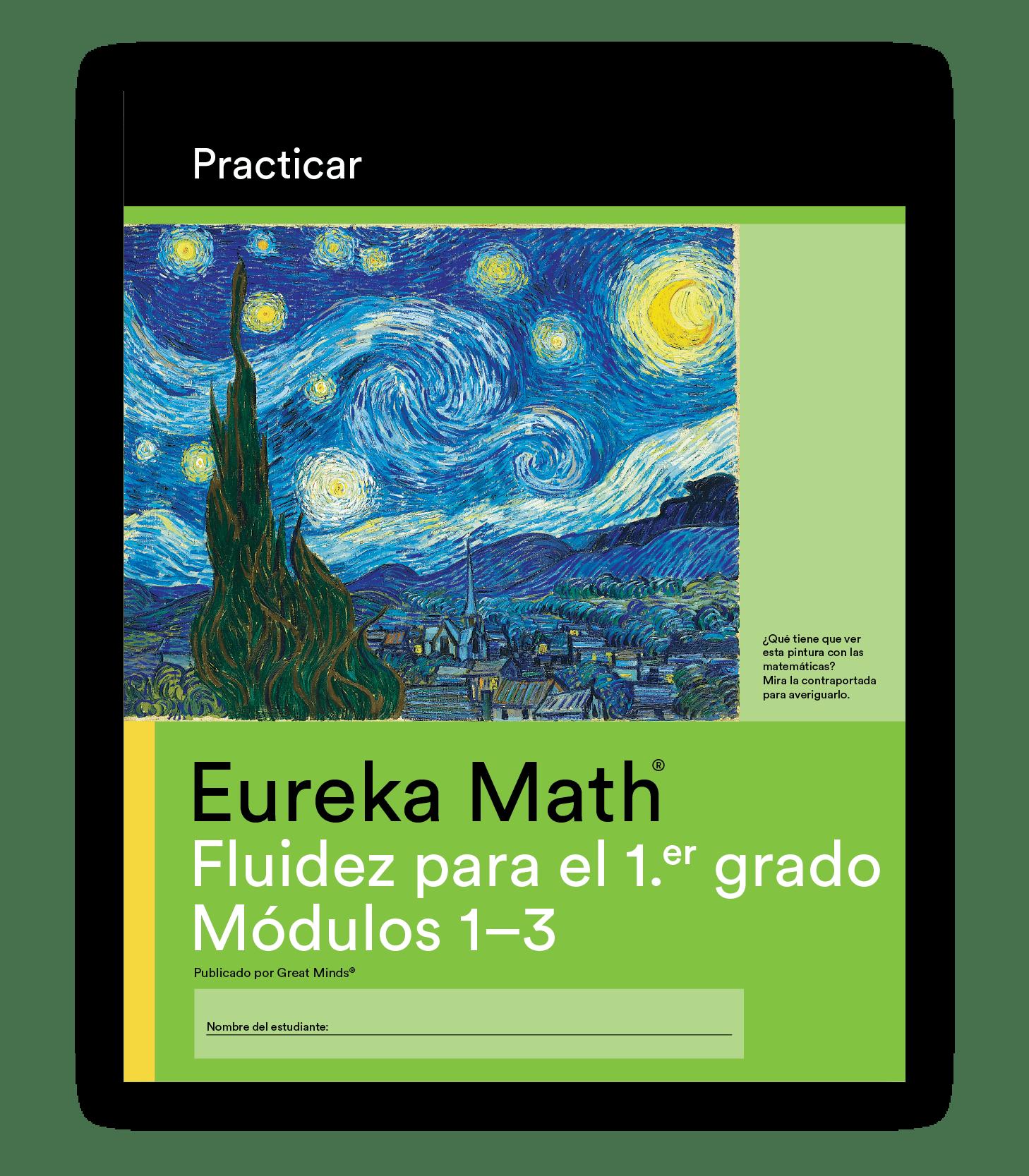 Eureka Math Practice Book in Spanish for Grade 1